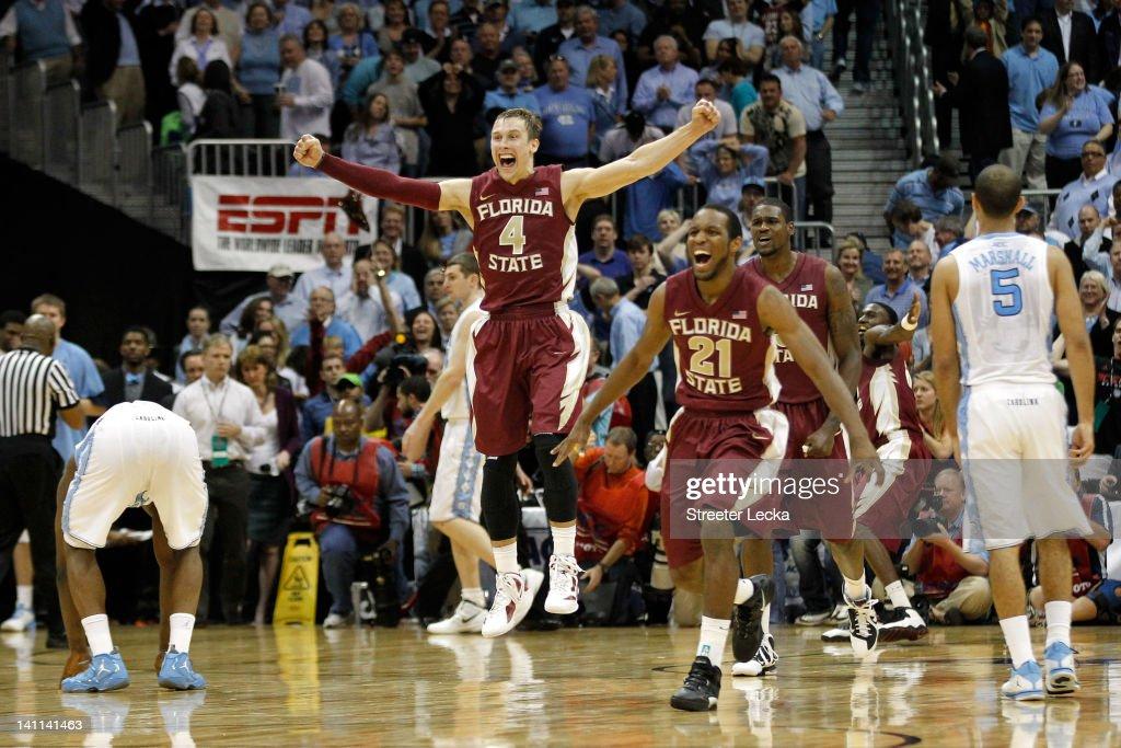 ACC Basketball Tournament - Florida State v North Carolina : News Photo