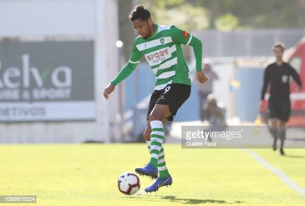 Deivison of SC Covilha in action during the Liga Ledman Pro match between GD Estoril Praia and SC Covilha at Estadio Antonio Coimbra da Mota on...