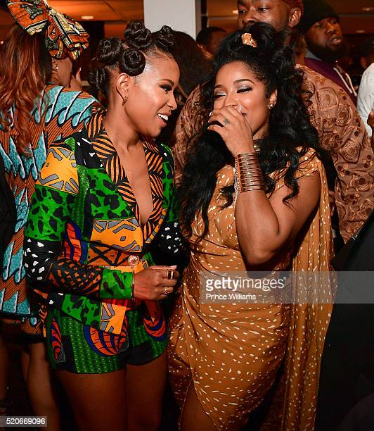 "Dej Loaf and Antonia ""Toya"" Wright attend Dej Loaf's Royal African Birthday Bash at Ventanas on April 8, 2016 in Atlanta, Georgia."