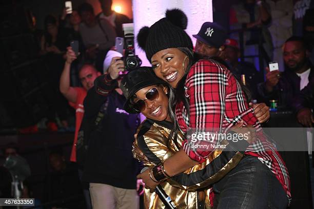 DeJ Loaf and Remy Ma onstage at Santos Party House on October 21 2014 in New York City