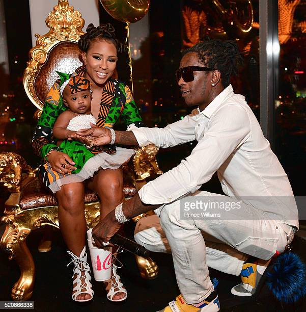 Dej loaf and Young Thug attends Dej Loaf Birthday celebration at Ventanas on April 8 2016 in Atlanta Georgia