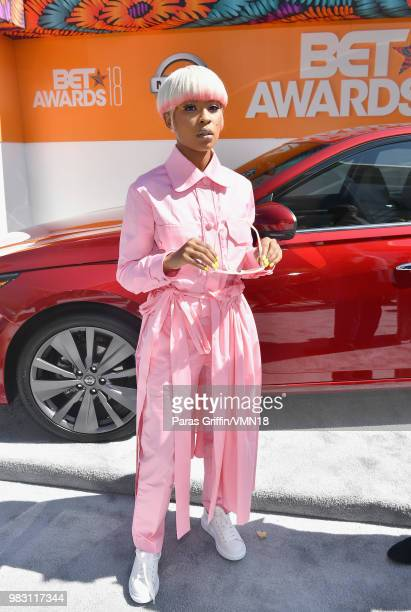 DeJ Loaf attends the 2018 BET Awards at Microsoft Theater on June 24 2018 in Los Angeles California