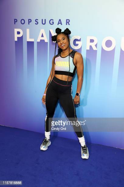 Deja Riley attends the POPSUGAR Play/Ground at Pier 94 on June 23, 2019 in New York City.