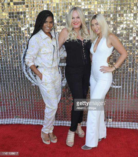 Deja Riley Sam Senia and Nicole Senia attend the Modern Muse Collective Launch held at Calamigos Guest Ranch on August 11 2019 in Malibu California
