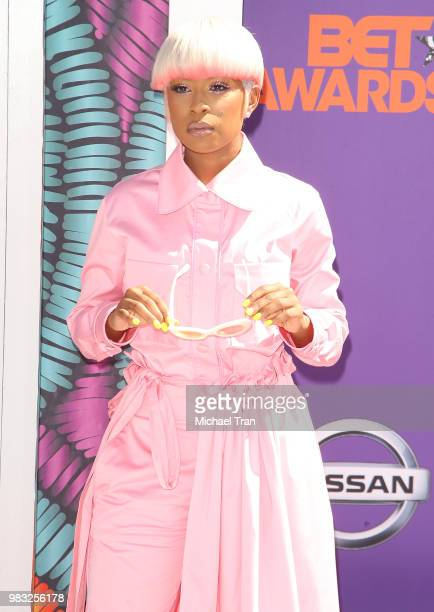 Deja Trimble arrives to the 2018 BET Awards held at Microsoft Theater on June 24 2018 in Los Angeles California