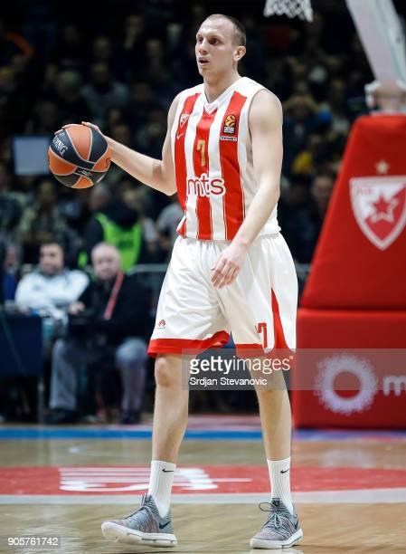 Dejan Davidovac of Crvena Zvezda in action during the 2017/2018 Turkish Airlines EuroLeague Regular Season Round 18 game between Crvena Zvezda mts...