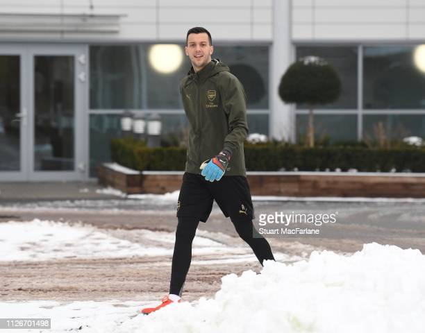 Dejan Iliev of Arsenal before a training session at London Colney on February 01 2019 in St Albans England