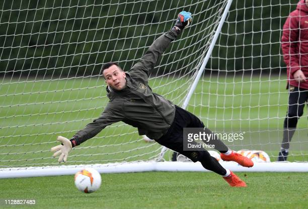 Dejan Iliev of Arsenal during the Arsenal Training Session at London Colney on March 6 2019 in St Albans England