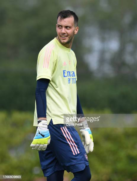 Dejan Iliev of Arsenal during the Arsenal U23 training session at London Colney on August 17, 2020 in St Albans, England.