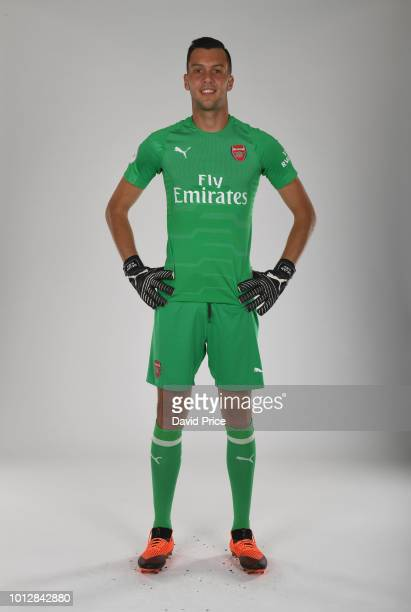 Dejan Iliev of Arsenal during the Arsenal Youth Team Photocall at London Colney on August 7 2018 in St Albans England