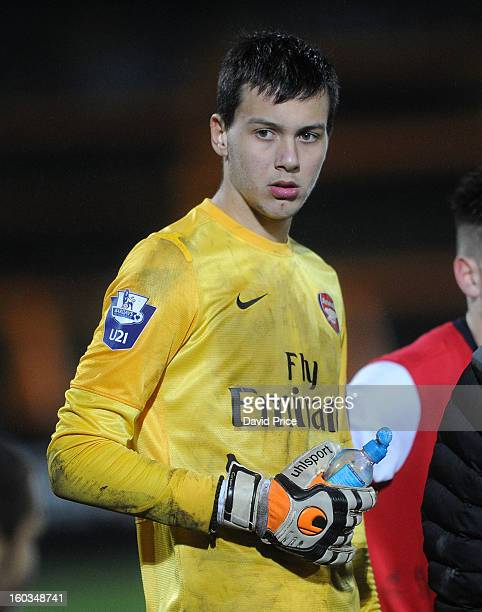 Dejan Iliev of Arsenal during the FA Youth Cup 4th Round match between Arsenal and Fulham at Underhill Stadium on January 29 2013 in Barnet United...