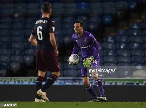 Dejan Iliev of Arsenal during the match between Portsmouth and Arsenal U21 at Fratton Park on December 4 2018 in Portsmouth England
