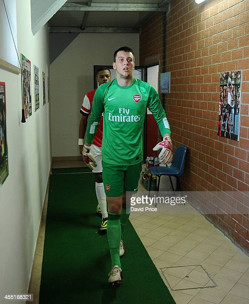 Dejan Iliev of Arsenal during the Napoli U19 match against Arsenal U19 in the UEFA Youth League on December 11 2013 in Naples Italy