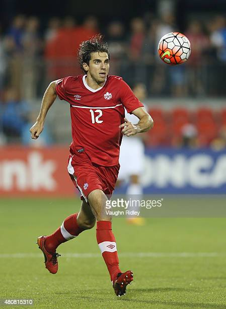 Dejan Jakovic of Canada during the 2015 CONCACAF Gold Cup Group B match between Canada and Costa Rica at BMO Field on July 14 2015 in Toronto Ontario...