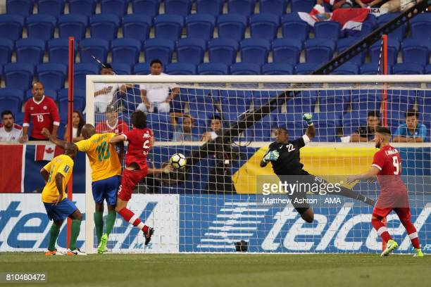 Dejan Jakovic of Canada scores a goal to make the score 01 during the 2017 CONCACAF Gold Cup Group A match between French Guiana and Canada at Red...