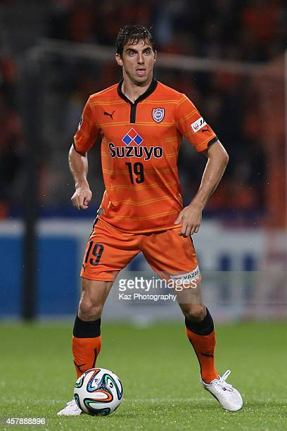 Dejan Jakovic of Shimizu SPulse in action during the JLeague match between Shimizu SPulse and Sanfrecce Hiroshima at IAI Stadium Nihondaira on...