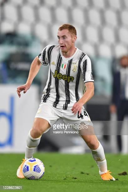 Dejan Kulusevski of Juventus in action during the Serie A match between Juventus and UC Sampdoria at Allianz Stadium on September 20, 2020 in Turin,...