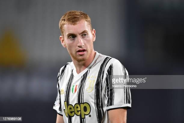 Dejan Kulusevski of Juventus looks on during the Serie A match between Juventus and UC Sampdoria at Allianz Stadium on September 20, 2020 in Turin,...
