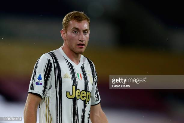Dejan Kulusevski of Juventus looks on during the Serie A match between AS Roma and Juventus at Stadio Olimpico on September 27, 2020 in Rome, Italy.