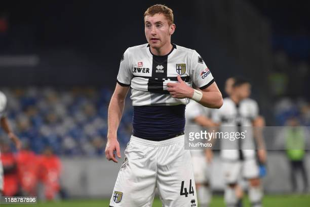 Dejan Kulusevski of Parma Calcio during the Serie A match between SSC Napoli and Parma Calcio at Stadio San Paolo Naples Italy on 14 December 2019