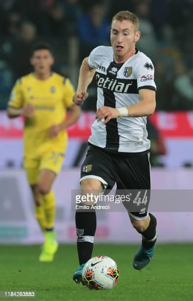 Dejan Kulusevski of Parma Calcio in action during the Serie A match between Parma Calcio and Hellas Verona at Stadio Ennio Tardini on October 29 2019...