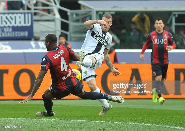 Dejan Kulusevski of Parma Calcio in action during the Serie A match between Bologna FC and Parma Calcio at Stadio Renato Dall'Ara on November 24 2019...