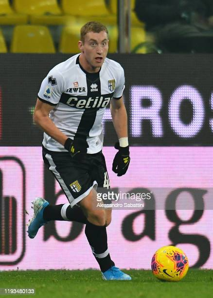 Dejan Kulusevski of Parma Calcio in action during the Serie A match between Parma Calcio and US Lecce at Stadio Ennio Tardini on January 13 2020 in...