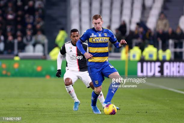 Dejan Kulusevski of Parma Calcio in action during the Serie A match between Juventus Fc and Parma Calcio Juventus Fc wins 21 over Parma Calcio
