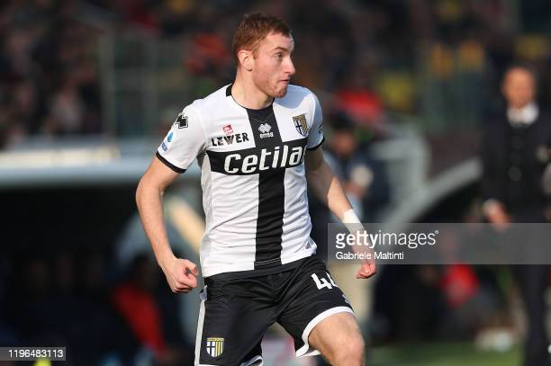 Dejan Kulusevski of Parma Calcio in action during the Serie A match between Parma Calcio and Udinese Calcio at Stadio Ennio Tardini on January 26...