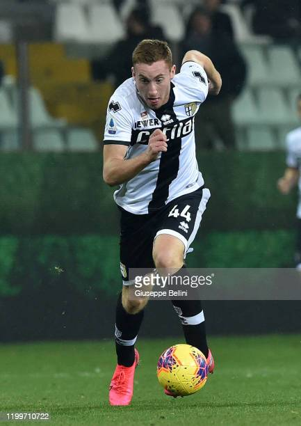 Dejan Kulusevski of Parma Calcio in action during the Serie A match between Parma Calcio and SS Lazio at Stadio Ennio Tardini on February 9 2020 in...