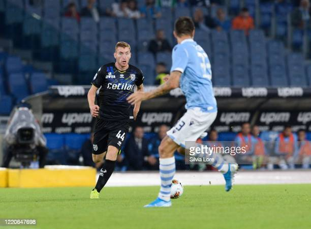 Dejan Kulusevski of Parma Calcio in action during the Serie A match between SS Lazio and Parma Calcio at Stadio Olimpico on September 22 2019 in Rome...