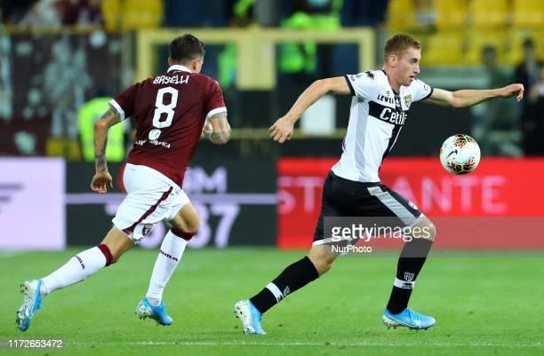 Dejan Kulusevski of Parma during the Serie A match Parma Calcio v Torino Fc at the Ennio Tardini Stadium in Parma Italy on September 30 2019