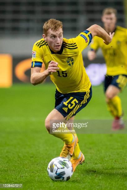 Dejan Kulusevski of Sweden during the UEFA Nations League group stage match between Sweden and Portugal at Friends Arena on September 8, 2020 in...