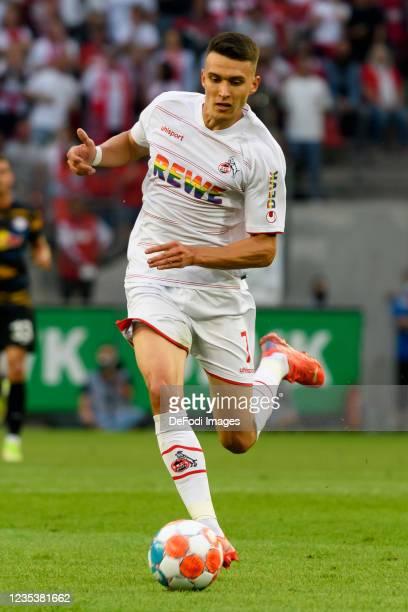 Dejan Ljubicic of 1. FC Koeln controls the ball during the Bundesliga match between 1. FC Koeln and RB Leipzig at RheinEnergieStadion on September...