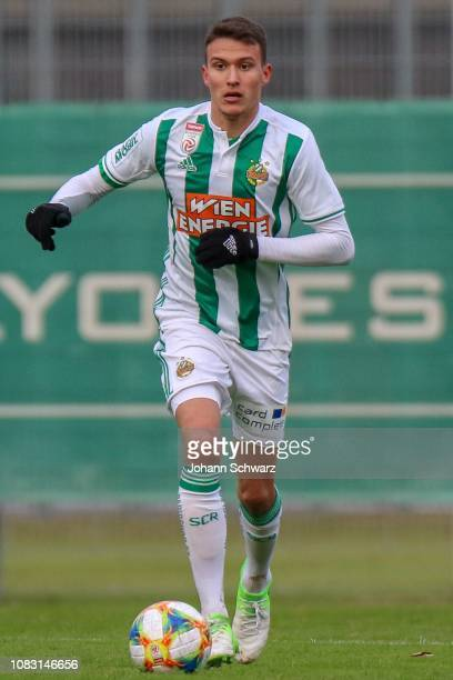 Dejan Ljubicic of Rapid controls the ball during the Friendly Match between SK Rapid and SV Horn at Ernst Happel Stadion training ground on January...
