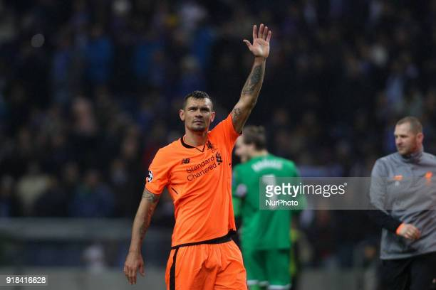 Dejan Lovren defender of Liverpool during the UEFA Champions League match between FC Porto and Liverpool at Dragao Stadium in Porto on February 14...