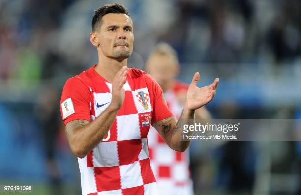 Dejan Lovren of Croatia celebrates after the 2018 FIFA World Cup Russia group D match between Croatia and Nigeria at Kaliningrad Stadium on June 16...