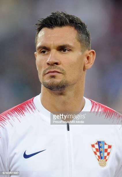 Dejan Lovren of Croatia during the 2018 FIFA World Cup Russia group D match between Croatia and Nigeria at Kaliningrad Stadium on June 16 2018 in...
