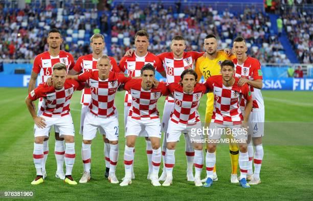 Dejan Lovren of Croatia Ivan Strinic of Croatia Mario Mandzukic of Croatia Ante Rebic of Croatia Danijel Subasic of Croatia Ivan Perisic of Croatia...