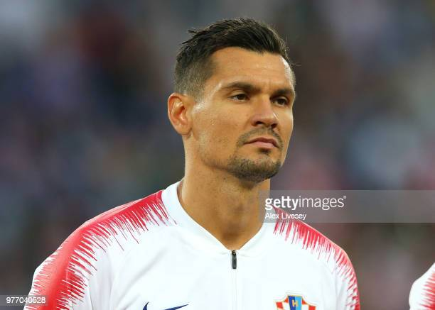 Dejan Lovren of Croatia lines up prior to the 2018 FIFA World Cup Russia group D match between Croatia and Nigeria at Kaliningrad Stadium on June 16...