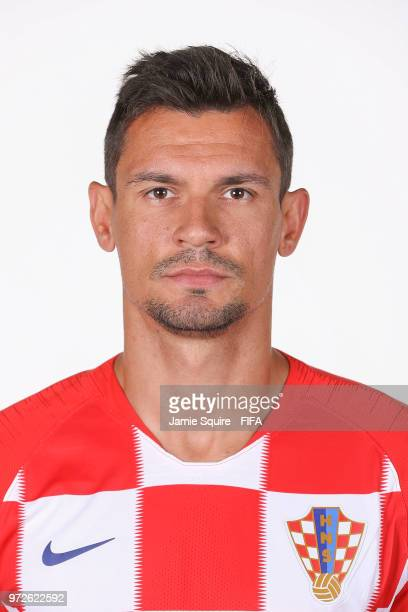 Dejan Lovren of Croatia poses during the official FIFA World Cup 2018 portrait session at on June 12 2018 in Saint Petersburg Russia