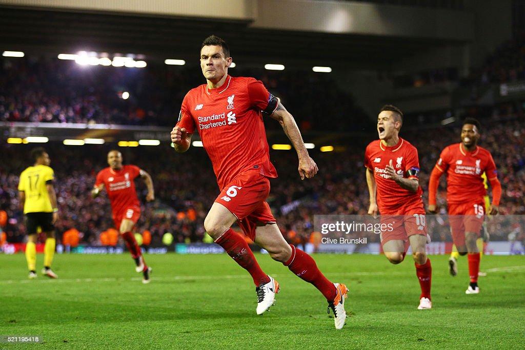Liverpool v Borussia Dortmund - UEFA Europa League Quarter Final: Second Leg : News Photo
