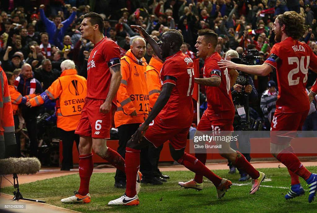 Liverpool v Borussia Dortmund - UEFA Europa League Quarter Final: Second Leg : News Photo