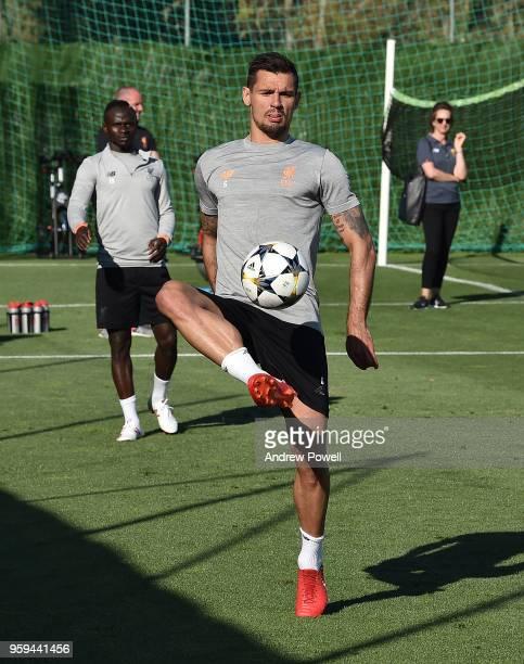 Dejan Lovren of Liverpool during a training session at Marbella Football Center on May 16 2017 in San Pedro De Alcantara Spain