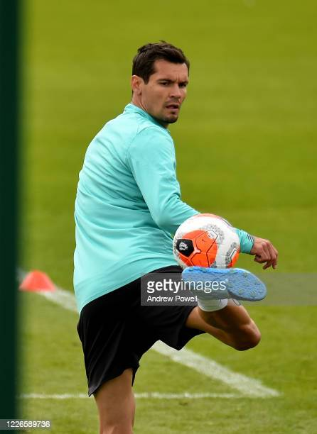 Dejan Lovren of Liverpool during a training session at Melwood Training Ground on May 23 2020 in Liverpool England