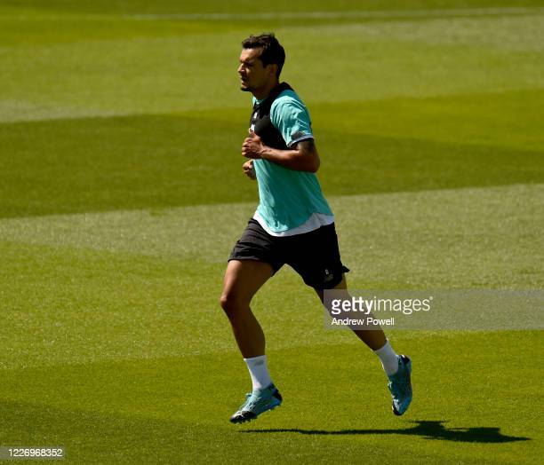 Dejan Lovren of Liverpool during a training session at Melwood Training Ground on May 25 2020 in Liverpool England