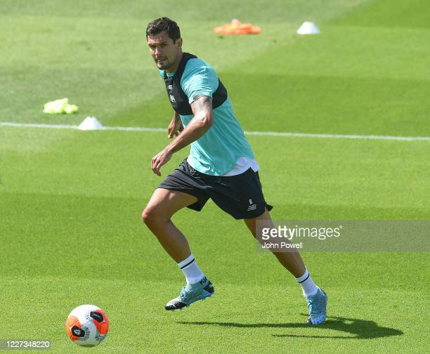 Dejan Lovren of Liverpool during a training session at Melwood Training Ground on May 27 2020 in Liverpool England