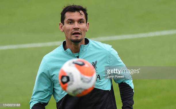 Dejan Lovren of Liverpool during a training session at Melwood Training Ground on June 03 2020 in Liverpool England