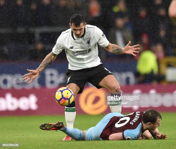 Dejan Lovren of Liverpool during the Premier League match between Burnley and Liverpool at Turf Moor on January 1 2018 in Burnley England