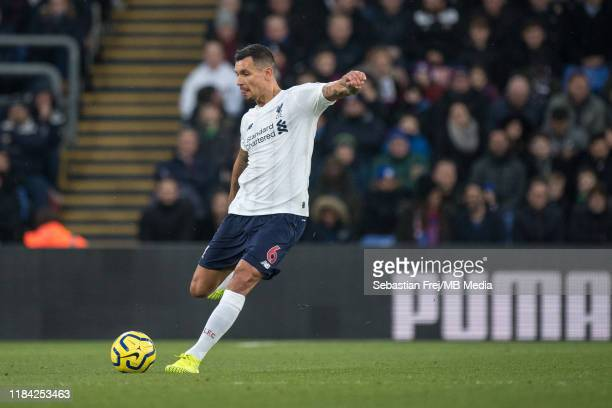 Dejan Lovren of Liverpool FC control ball during the Premier League match between Crystal Palace and Liverpool FC at Selhurst Park on November 23...